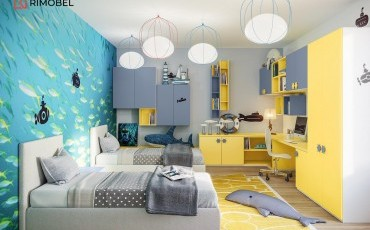 Cameră copii 2 paturi
