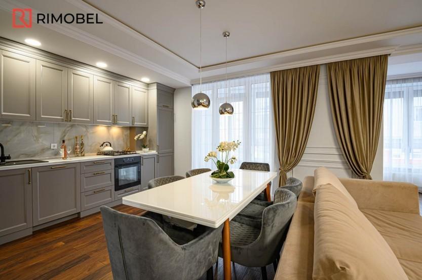 Квартира в скандинавском стиле ул. N.Testemieanu 3 Кухни неоклассика la comanda