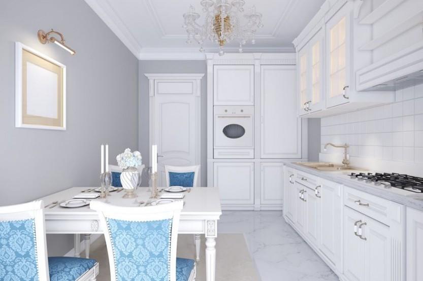Кухня окрашеный МДФ, классический стиль, Кишинев, улица Валя Трандафирилор Кухни из крашенного МДФ la comanda