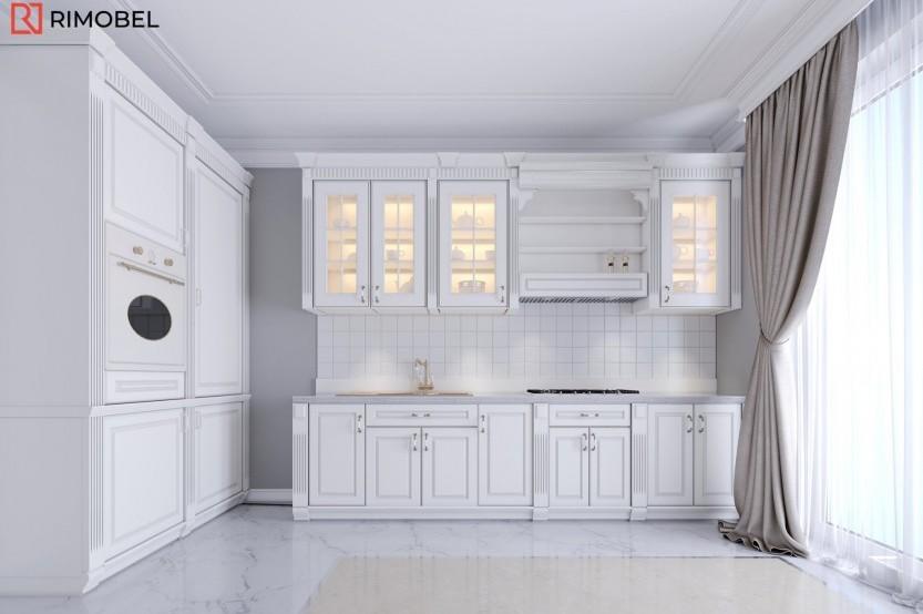 Кухня окрашеный МДФ, классический стиль, Кишинев, улица Валя Трандафирилор Кухни из крашенного МДФ mobila
