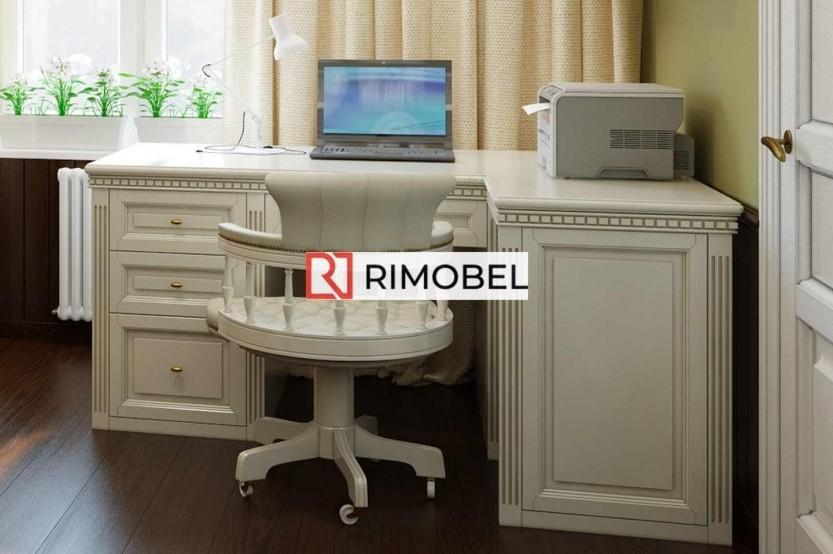 Домашний мини-кабинет с книжными шкафами Полки mobila
