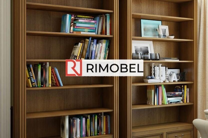 Домашний мини-кабинет с книжными шкафами Полки la comanda