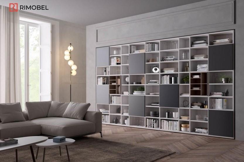 Bibliotecă în Sufragerie Sufragerie / Living mobila