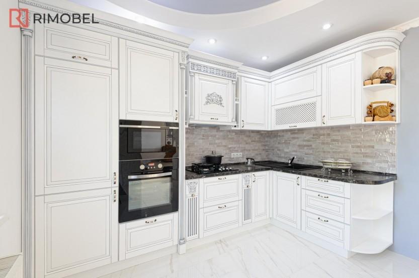 Bucătărie albă clasică Dubăsarii Vechi Bucătării clasice la comanda chisinau