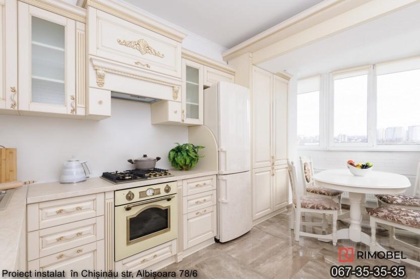 Bucătărie clasică Chișinău str Albișoara 77 Bucătării clasice mobila