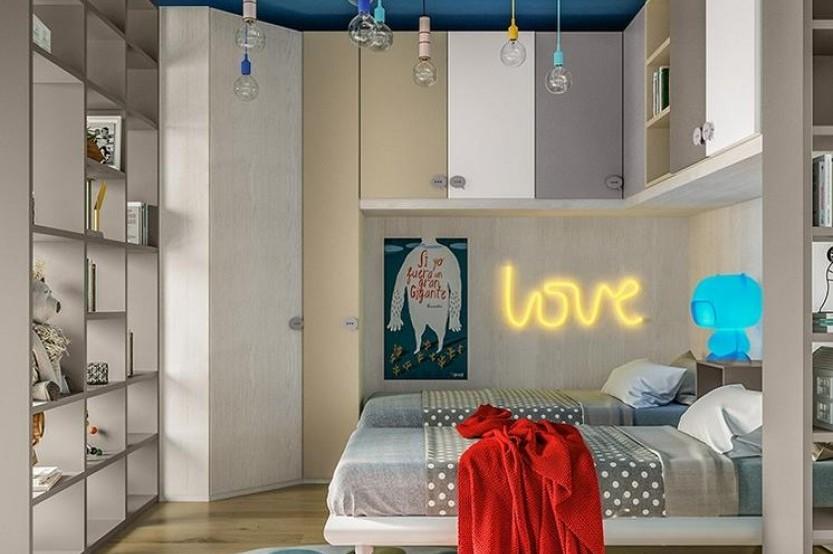 """Dormitor cu 2 paturi """"Colibri"""" Cameră copii 2 paturi la comanda chisinau"""