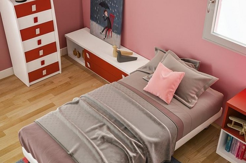 """Dormitor fetiță """"Red"""" Cameră copii fete la comanda chisinau"""