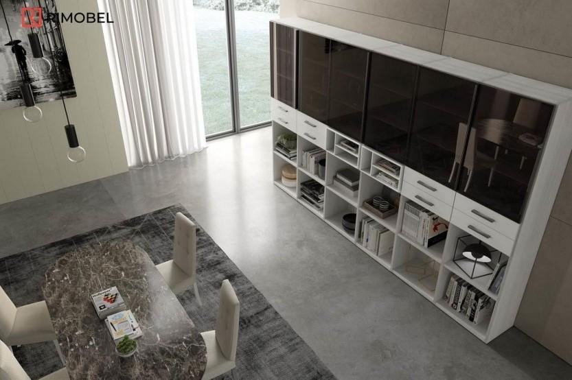 Living sticlă vopsită negru Sufragerie / Living mobila