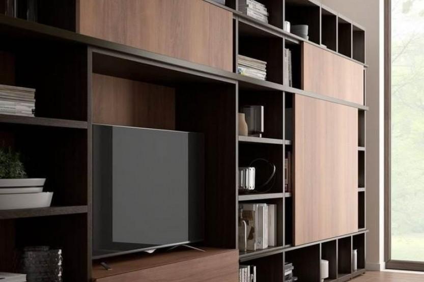 Шпонированная мебель в гостиной Мебель для гостиной la comanda chisinau
