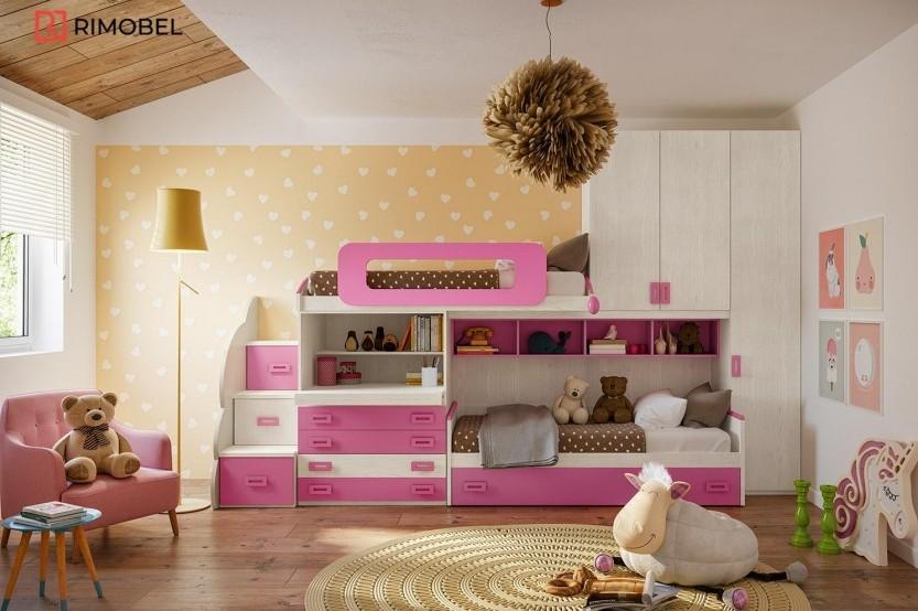 """Dormitor fetiță """"ROSSE flowers"""" Cameră copii fete la comanda"""