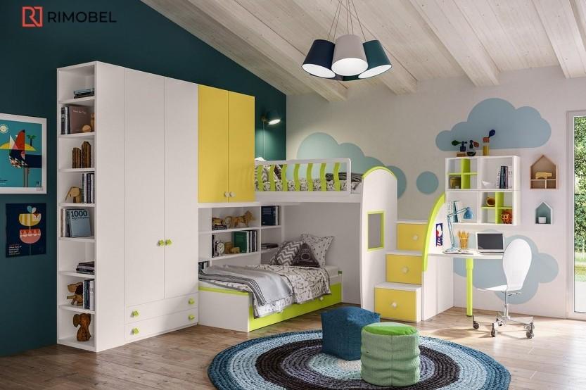 """Dormitor fetiță """"ROSSE flowers"""" Cameră copii fete mobila"""