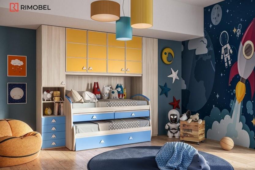 """Dormitor cu 2 paturi """"Matteo"""" Cameră copii 2 paturi la comanda chisinau"""