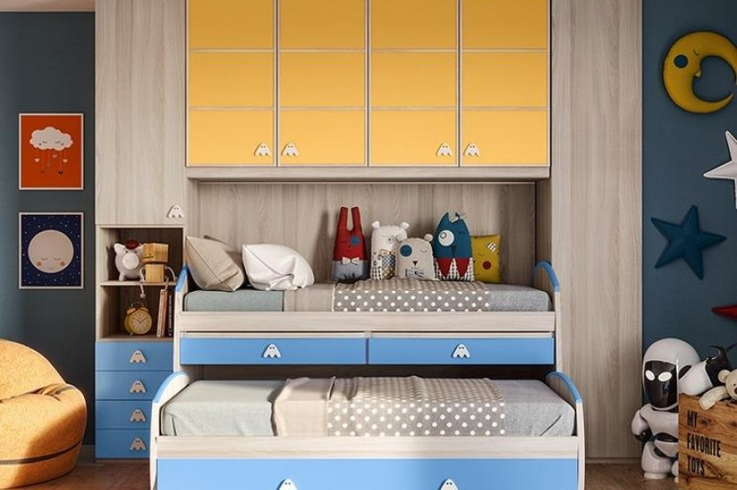"""Dormitor cu 2 paturi """"Matteo"""" Cameră copii 2 paturi la comanda"""