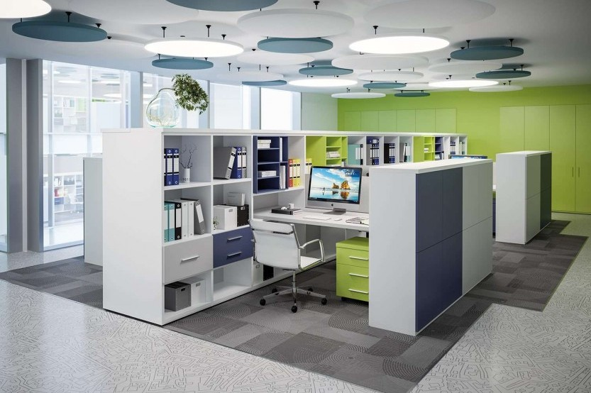 Офис Open Space Коммерческая мебель mobila