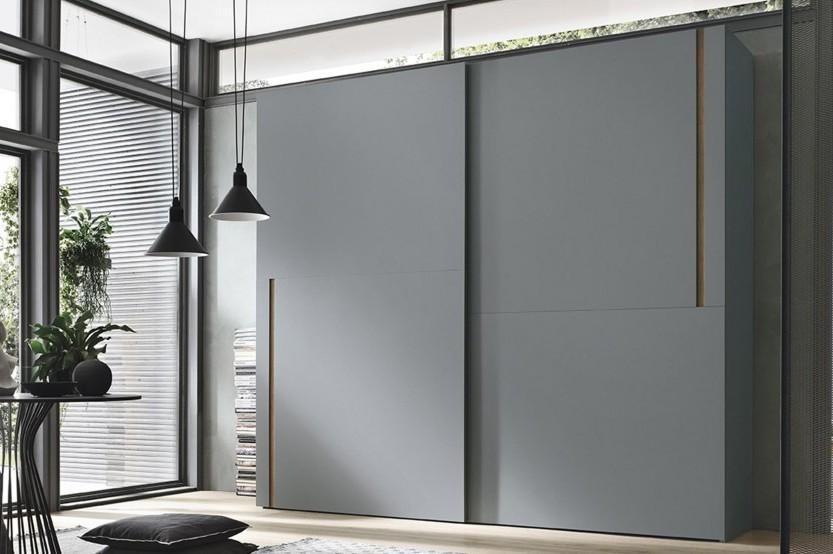 Серый шкаф-купе для спальни Спальни из МДФ la comanda