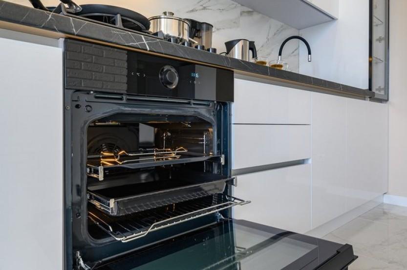 Bucătărie liniară str. Sprîncenoaia 3G, Chișinău Bucătării moderne mobila