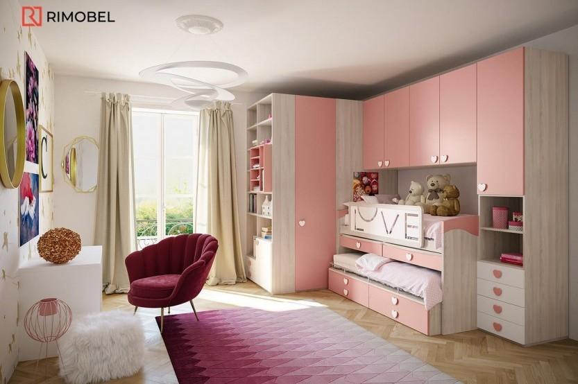 """Dormitor fetiță  """"Princess"""" Cameră copii fete mobila"""