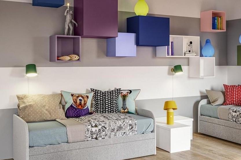 """Спальня с 2 кроватями """"Софт"""" Детская комната 2 кровати la comanda chisinau"""