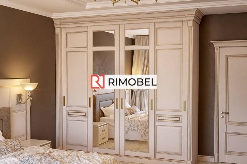 Dulap glisant pentru un dormitor în stil clasic Dulapuri-cupe la comanda chisinau