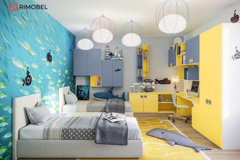 """Спальня с 2 кроватями """"Евас"""" Детская комната 2 кровати la comanda"""