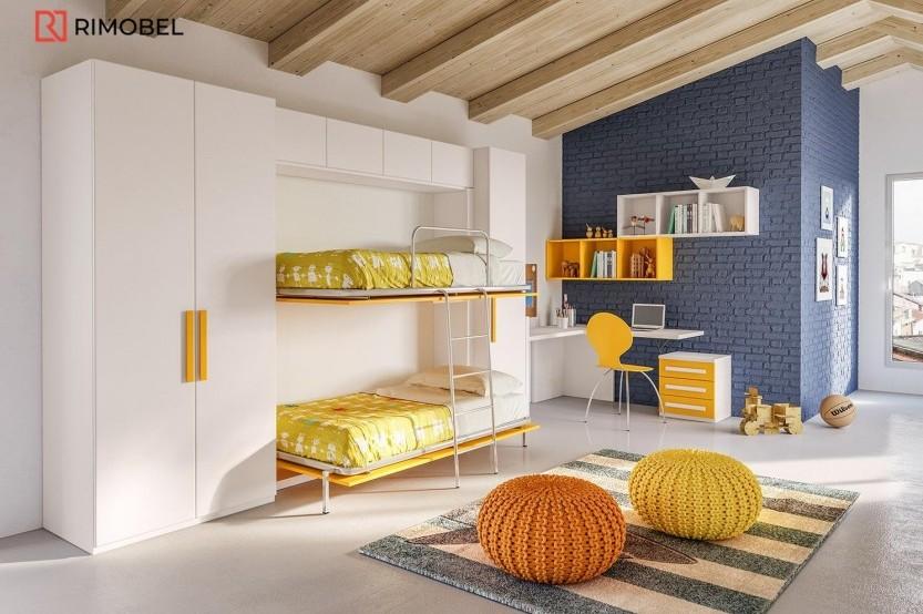 """Dormitor cu 2 paturi """"Nemo"""" Cameră copii 2 paturi la comanda chisinau"""