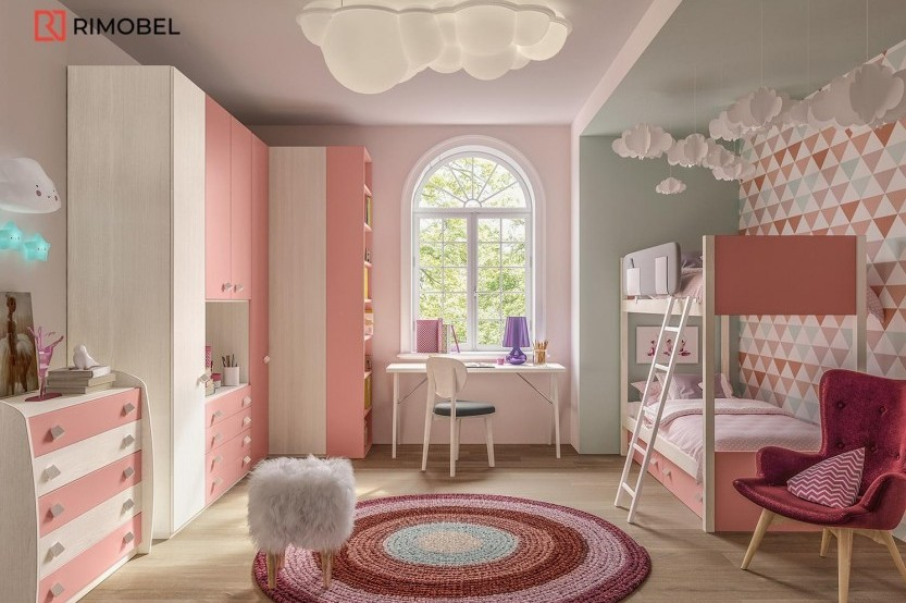 """Dormitor cu 2 paturi """"Caspian"""" Cameră copii 2 paturi la comanda"""