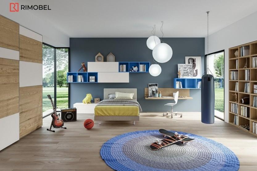 """Мебель для мальчиков """"Trio"""" Детская комната для мальчиков mobila"""
