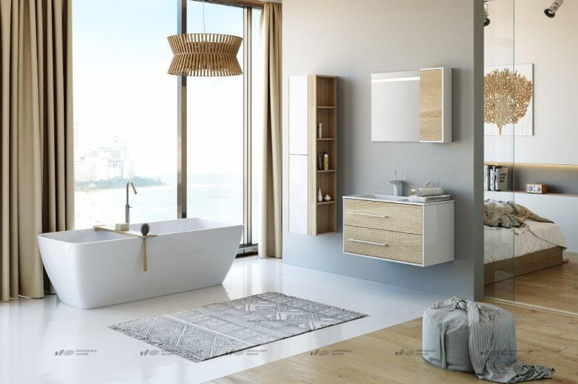 Mobilă baie model «Modern 3» Mobilier modern pentru baie la comanda chisinau