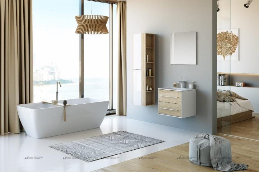 Мебель в ваную модель «Модерн 3» Мебели для ванных комнат модерн mobila