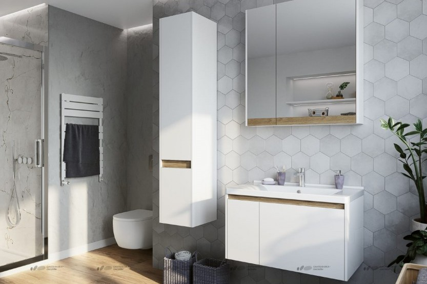 Mobilă baie model «Modern 2» Mobilier modern pentru baie mobila