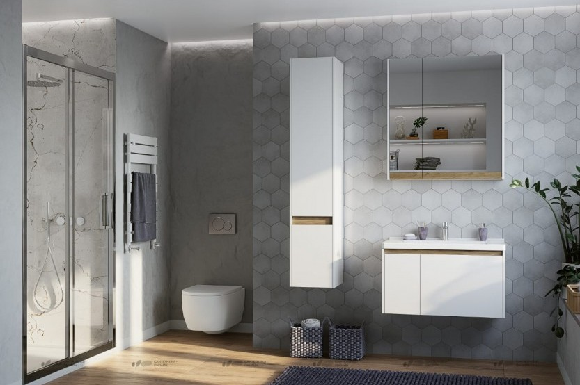 Мебель в ваную модель «Модерн 2» Мебели для ванных комнат модерн mobila