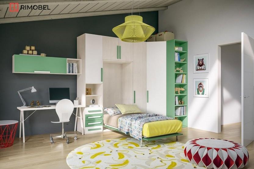 """Мебель для мальчиков """"Trio"""" Детская комната для мальчиков la comanda"""