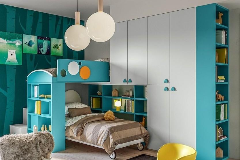 """Dormitor cu 2 paturi """"Тeenager"""" Cameră copii 2 paturi la comanda"""