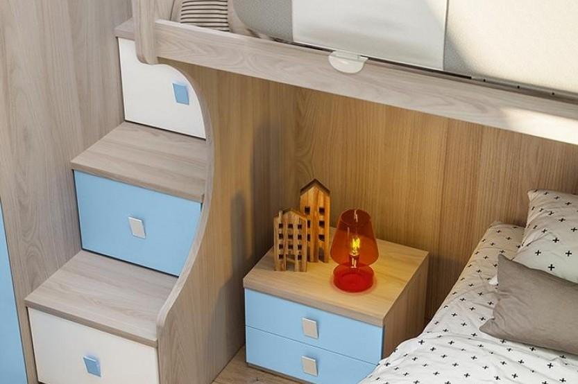 """Dormitor cu 2 paturi """"Delfin"""" Cameră copii 2 paturi la comanda"""