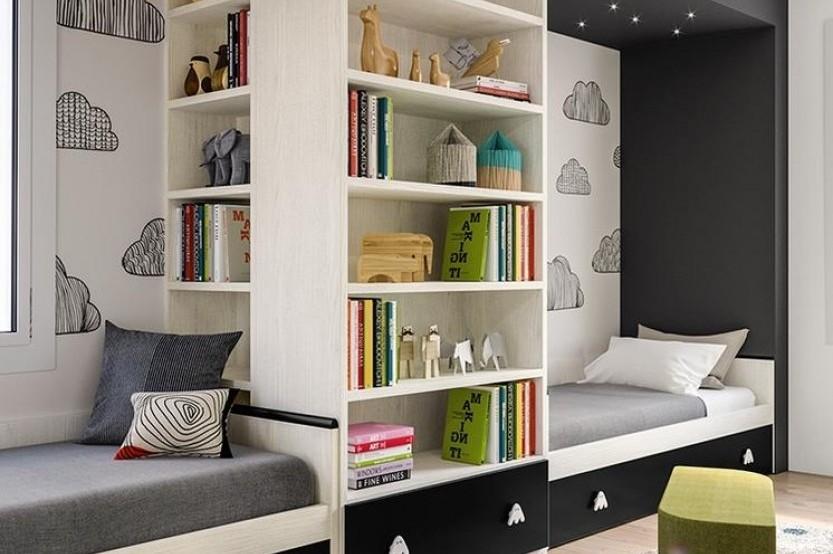 """Dormitor cu 2 paturi """"Kvest"""" Cameră copii 2 paturi mobila"""