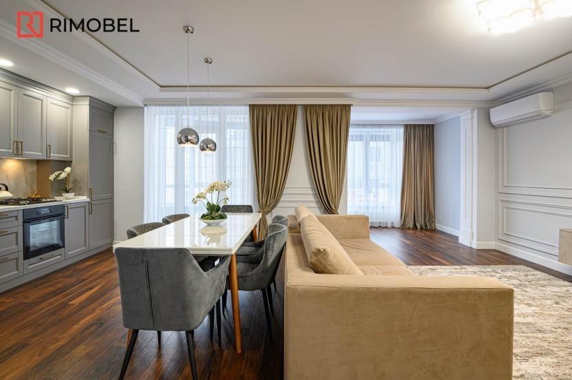 Квартира в скандинавском стиле ул. N.Testemieanu 3 Кухни неоклассика mobila