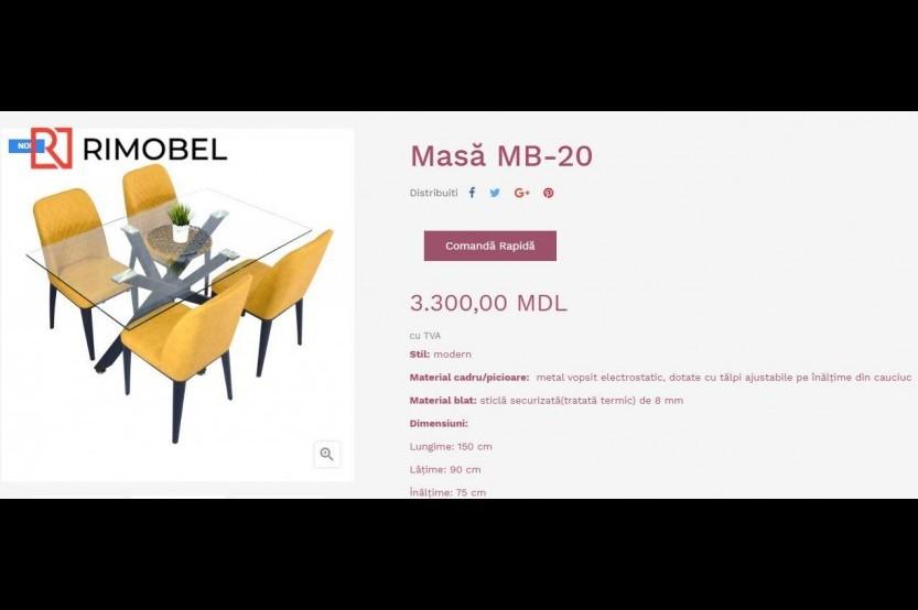 Masă - Rim20 Măsuțe mobila